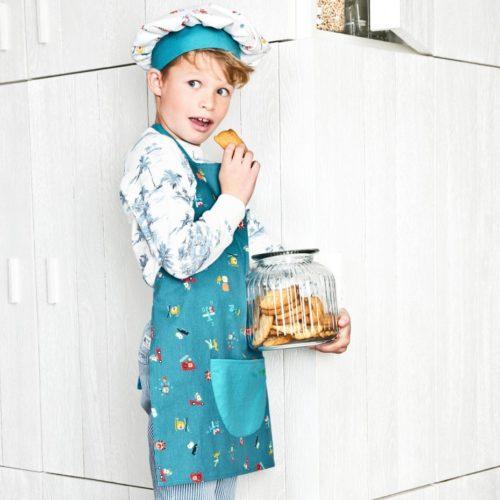 Tablier et toque En Route little Chef Lilliputiens