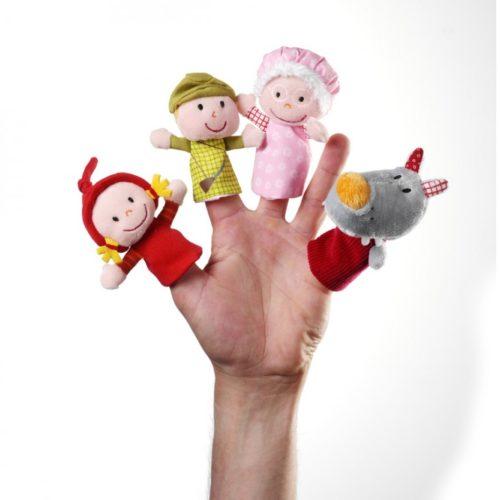 Marionnettes à doigts Chaperon Rouge Lilliputiens