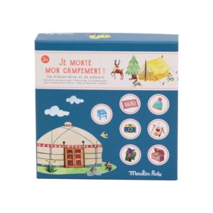 Jeu Je Monte Mon Campement Moulin Roty, collection Jardin du Moulin