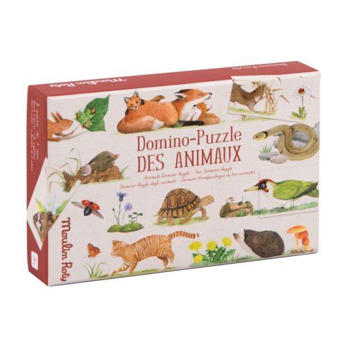 Domino Puzzle des animaux de Moulin Roty