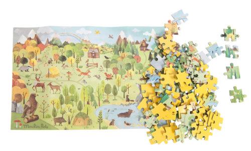 Puzzle Forêt Jardin du Moulin de Moulin Roty