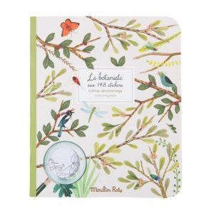 Cahier de coloriage et stickers Botaniste Moulin Roty