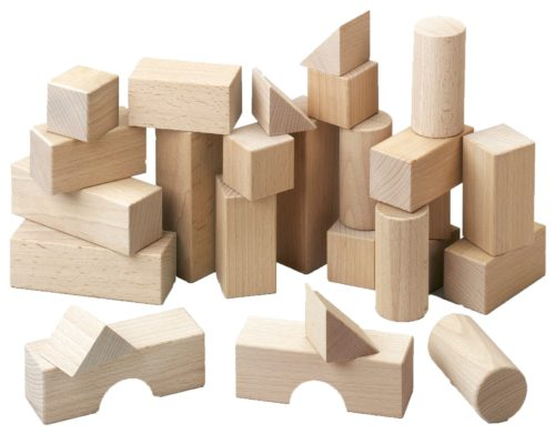 Blocs en bois, boîte de base Haba