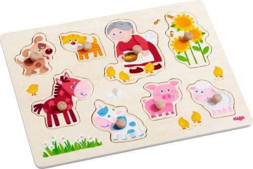 """Puzzle """"Les animaux de mamie Leni"""" de Haba"""