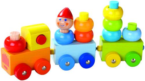 Train découverte ronds multicolores de Haba