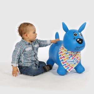 Animal sauteur chien bleu de Ludi